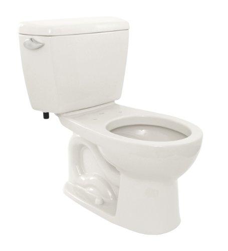 toto cst743s01 drake round bowl and tank cotton white - Power Flush Toilet