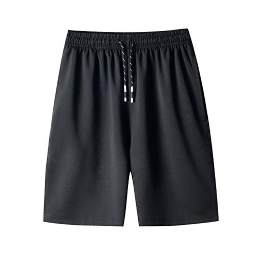 Men's Training Jogger Shorts|Men Straight Relaxed Fit Breathable Quick Dry Workout Shorts|Drawstring Running Athletics Beach Pants (Training Relaxed Short)