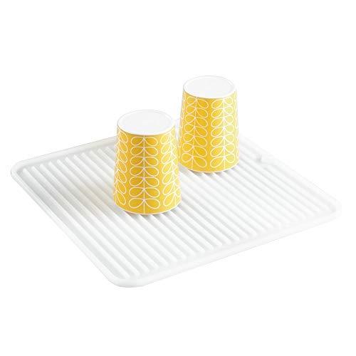 InterDesign Lineo Tapete escurridor, Alfombrilla escurreplatos compacta de Silicona para secar Cubiertos y vajilla,...