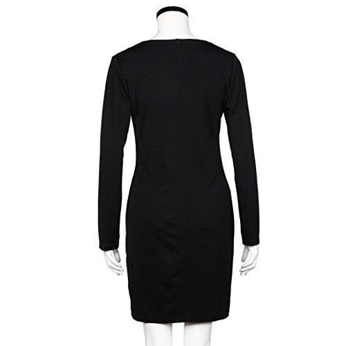 Creazy 2016 Femmes De Mode Moulantes Soirée Manches Longues Sexy Cocktail Mini Robe