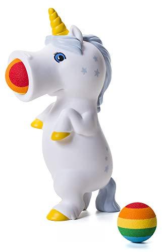 Hog Wild White Unicorn Popper Toy - Shoot Foam Balls Up to 20 Feet - 6 Rainbow Balls Included - Age 4+]()