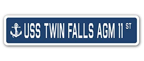 - Cheyan USS Twin Falls AGM 11 Street Sign Navy Ship Veteran Sailor Vet USN Gift Metal Sign 4