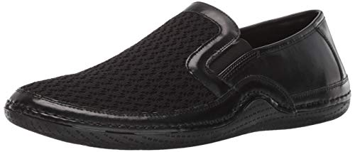 STACY ADAMS Men's Orleans Slip-On Casual Loafer Driving Style, Black, 12 M US