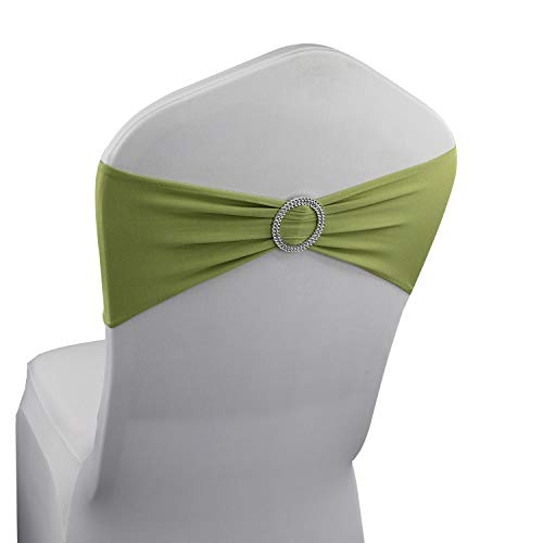 Apple Green Spandex Chair Bands Sashes - 12 pcs Wedding, used for sale  Delivered anywhere in USA