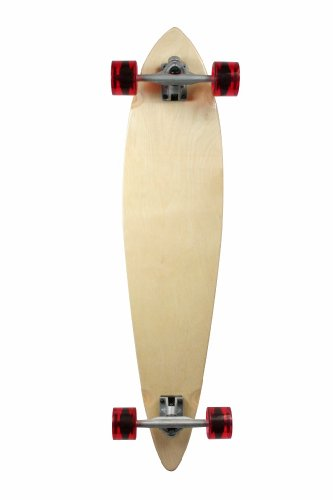 SCSK8 Natural Blank Stained Assembled Complete Longboard Skateboard