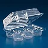 oasis cupcake containers - Oasis Supply 24 6-Compartment Cupcake & Muffin Container with Hinged Lid, Clear