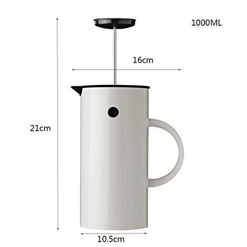 Coffee Pot Method Pressure Pot Coffee Pot Home Nordic Style French Filter Press Pot Teapot Capacity 1l by YQQ-Coffee Pot (Image #1)