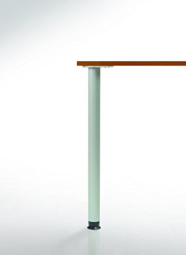Zoom Table Leg Brushed Steel 34-1/4