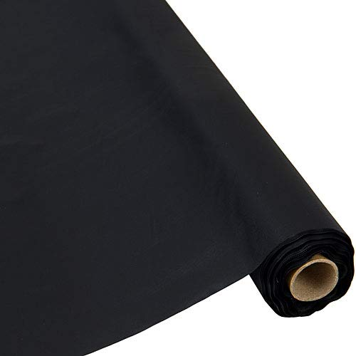 Table Mate Plastic Party Banquet Table Cover Roll - 300 ft. x 40 in. - Disposable Tablecloth (Black) ()