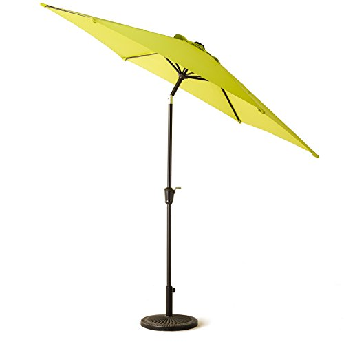 grand patio outdoor beach parasol aluminum umbrella with push button tilt and crank polyester. Black Bedroom Furniture Sets. Home Design Ideas