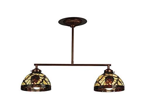 Light Pendant 2 Pinecone (Meyda Tiffany 123357 Pinecone Dome 2 Light Island Pendant Light Fixture, 27