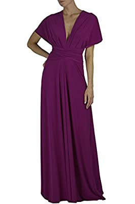 VonVonni Women's Transformer/infinity/wrap Dress, Long