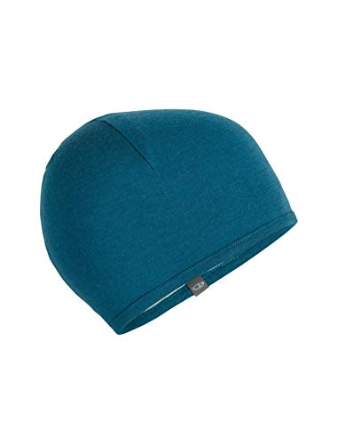Icebreaker Merino Pocket Cold Weather Hats, One Size, Kingfisher/Dew/Arctic Teal (Hat Wool Ibex)