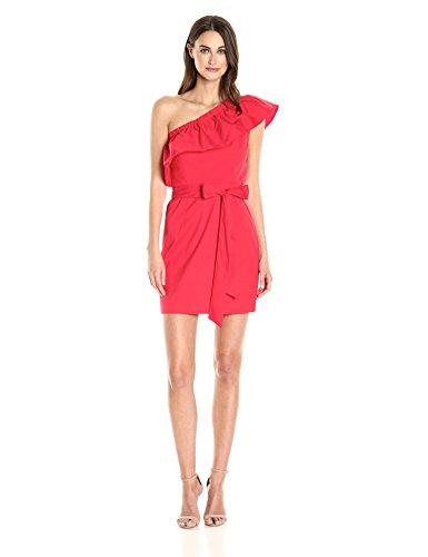 MILLY Women's Tara Dress, Tomato, 12 (Dress Milly Cotton)