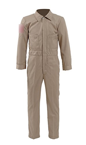 Boys Halloween Costume Hot Ghost Movie Khaki Cotton Jumpsuit 2 Styles (6, B)