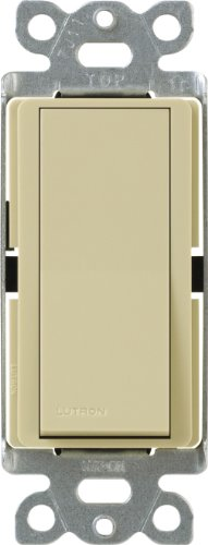 Lutron Claro On/Off Switch, 15-Amp, Single-Pole, CA-1PS-IV, Ivory