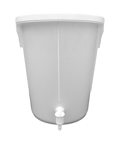 25 Litre Home Brewers Bucket WITH WHITE TAP - FOOD GRADE KETO PLASTICS