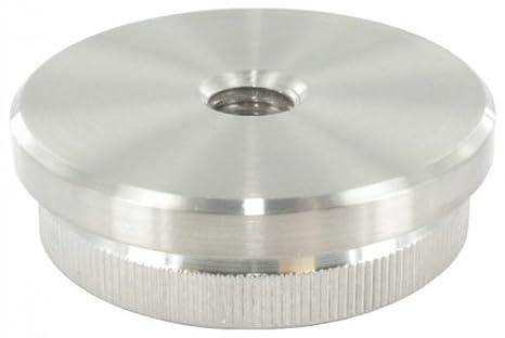 massiv f/ür Rohr /ø 26,9 x 2,0mm zum Einschlagen Endkappe leicht gew/ölbt