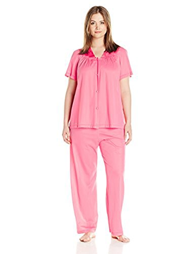 Exquisite Form Women's Plus Size Coloratura Sleepwear Short Sleeve Pajama Set 90807, Strawberry Shortcake, XXX-Large by Exquisite Form (Image #1)