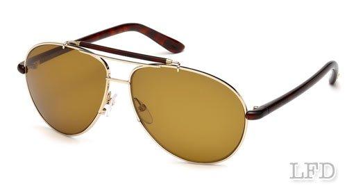 Tom Ford BRADLEY FT0244 Sunglasses TF244 Color 28J Golden Brown / Brown TF - Sun Tomford Glasses