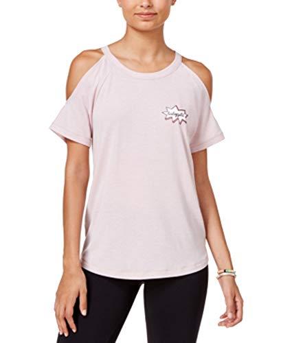 8412b0dcc4091 Material Girl Juniors  Babygirl Graphic Cold-Shoulder Top (Shimmer Pink