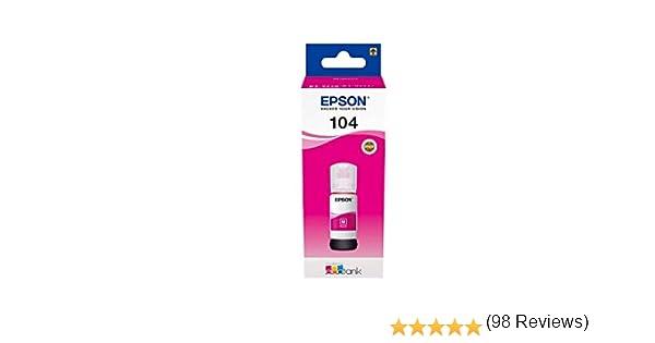 Epson C13T00P340 Tinta 104 magenta 65ml 7500 Lados: Amazon.es ...