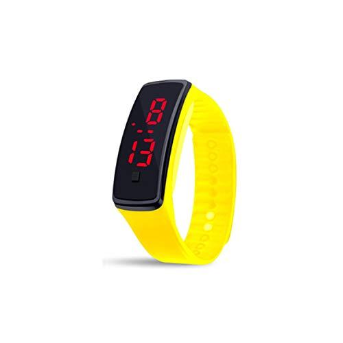 Multicolor Digital Watch Men Women Couple Rectangle Dial Rubber Multifunction Sport Wrist Kids Electronic ()