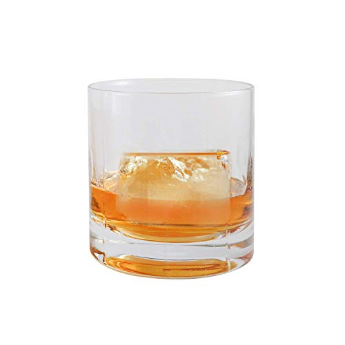 Cube Glass Birthday (Ambrosia Collection Zeus Whiskey Glasses - Premium 14 oz Large Scotch Old Fashioned Glasses fits Large Ice Cubes up to 2.25 inches - Set of 2)