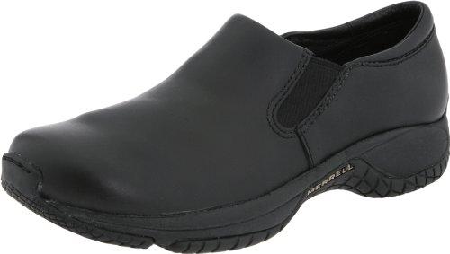 Merrell Women's Encore Moc Pro,Black Leather,6 M US