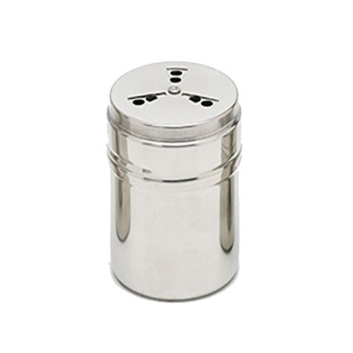 Verdental Adjustable Stainless Steel Dredge Salt Pepper Shaker Seasoning Cans with Trefoil Rotating Cover (Medium)