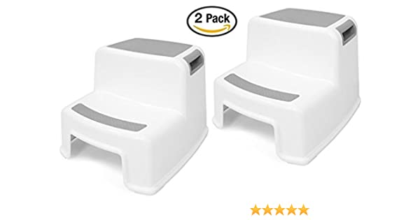 (2 Pack) Dual Height Step Stool for Toddlers u0026 Kids Potty Training Stool  sc 1 st  Amazon.com & Amazon.com: Step Stools: Baby Products islam-shia.org