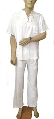 Alpakaandmore Men Scrub Set Medical Scrub Top and Pants 100% Pyma Cotton (X-Large)