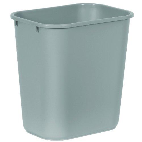 Rubbermaid Commercial 2956 LLDPE 28-1/8 Quart Deskside Medium Trash Can, Rectangular, 10-1/4