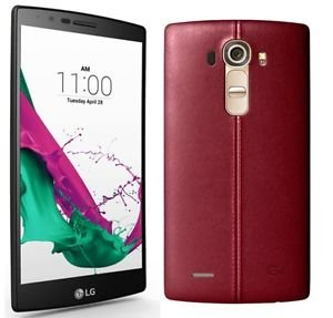 LG G4 H815 5.5-Inch Factory Unlocked Smartphone with Genuine Leather (Leather Red) - International Stock (No Warranty)