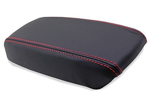 Acura Integra Center console Armrest synthetic Leather cover Black, Red Stitch For 94-01
