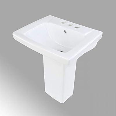 Children S White Pedestal Sink Vitreous China Weewash 4 Centerset Open Back Scratch Stain Resist Amazon Sg Home Improvement