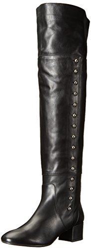 Charles David Womens Military Over the Knee Boot Black