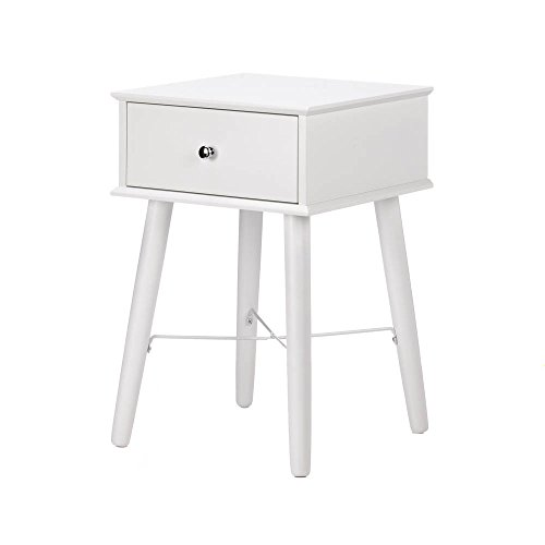 Accent Plus White Wood Side Table