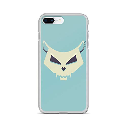 iPhone 7 Plus/8 Plus Case Anti-Scratch Creature Animal Transparent Cases Cover Funny Skull Artwork with A Vector Illustration of A Sty Animals Fauna Crystal Clear]()