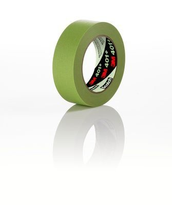 (12 Roll-Pack) 3M 401+ Green 24 MM x 55 M 250F Hi-Performance Masking Tape 6.7 Mil Equiv to 1 Inch