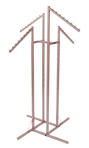 (SSWBasics 4 Way Clothing Rack - Rose Gold - Slant Arms)