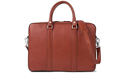 Cayman & Co. Spectre Briefcase (Cognac Leather Briefcase)