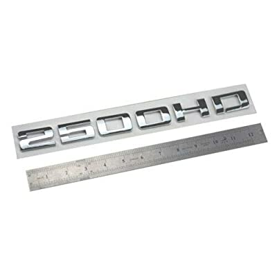 2pcs 2500HD 2500 HD Nameplates Emblems Badges ABS Glossy Compatible for Gm Silverado Sierra (Chrome): Automotive