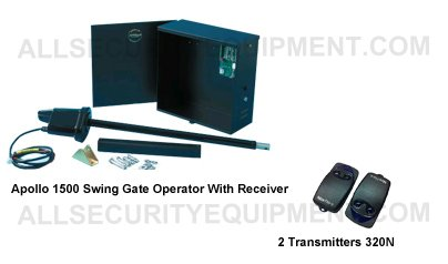 APOLLO 1500 Swing Gate Motor Package With Two APL-320N Remote Control Transmitters & Receiver