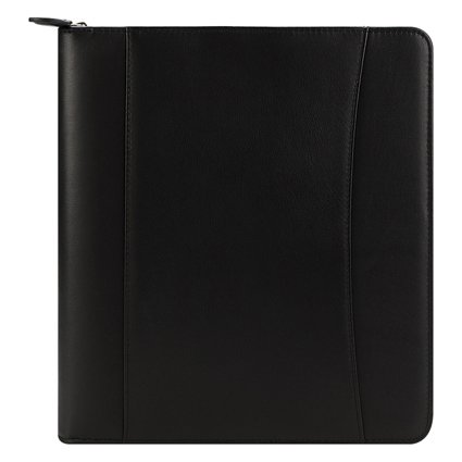 Monarch FC Basics Nappa Leather Zipper Binder - Black (Franklin Covey Black Pocket)