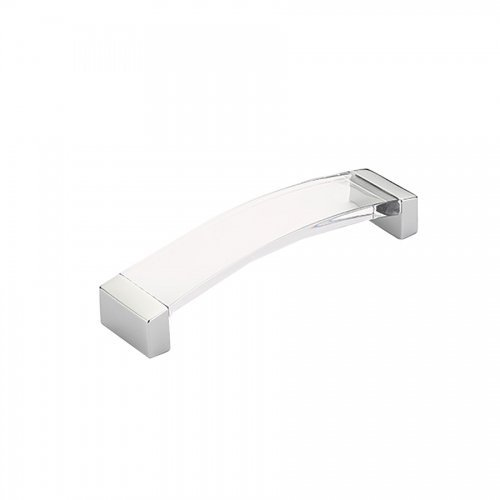 Schaub Positano Collection 5-1/16 in. (128 mm) Pull, Polished Chrome - Clear - 320-26 CL