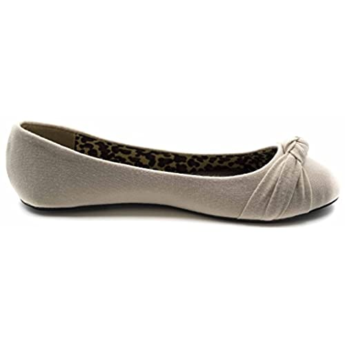 6edd5ca781c6 60%OFF Charles Albert Women s Knotted Front Canvas Round Toe Ballet Flats