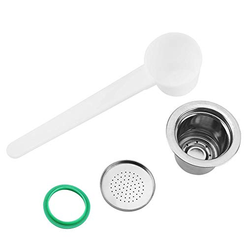 【𝐁𝐥𝐚𝐜𝐤 𝐅𝐫𝐢𝐝𝐚𝒚 𝐋𝐨𝒘𝐞𝐬𝐭 𝐏𝐫𝐢𝐜𝐞】Stainless Steel Refillable Coffee Capsule, Reusable Pods Replacement Compatible for nespresso Coffee Machine