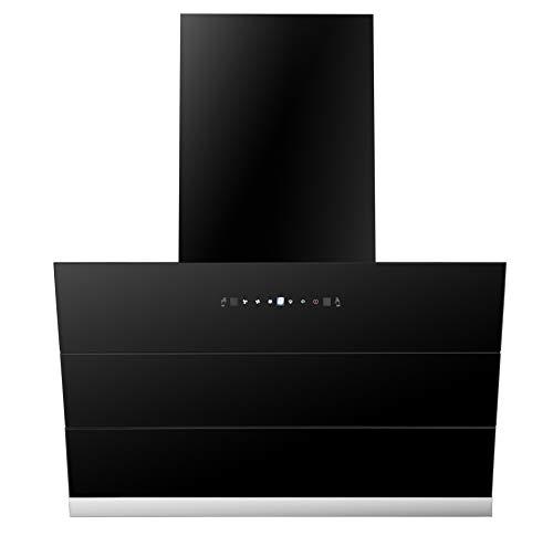 Faber 60 cm 1350 m³/HR Auto-Clean Angular Kitchen Chimney (HoodZenithFL SC AC BK 60, Filterless Technology, Touch Control, Black)