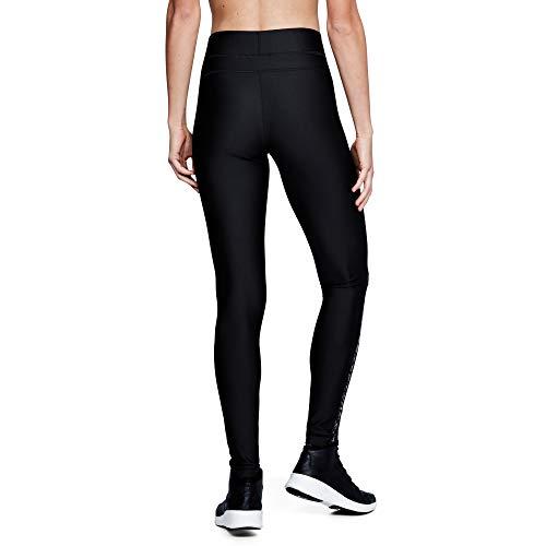 Under Armour Women's HeatGear Armour Printed Legging, Black (002)/Metallic Silver, X-Large
